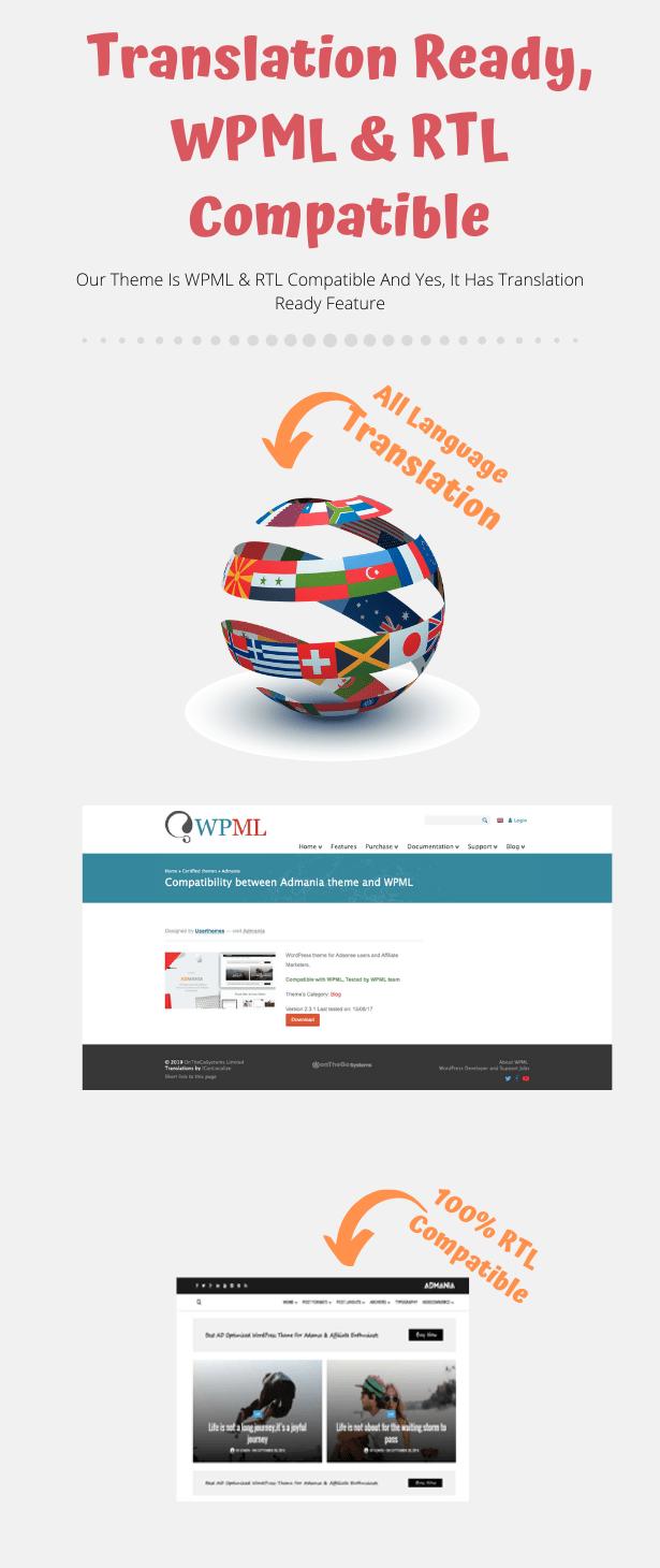 Admania - Adsense WordPress Theme With Gutenberg Compatibility Download